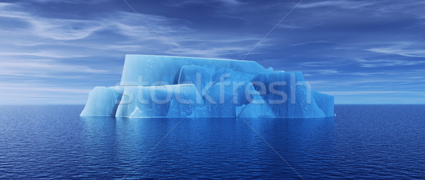 Vue iceberg belle transparent mer rendu 3d Photo stock © orla