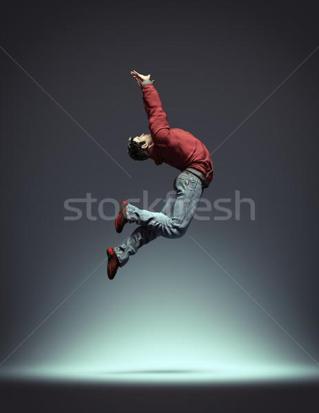 ヒップホップ ダンサー ジャンプ ダンス 3dのレンダリング ストックフォト © orla