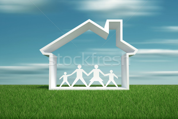 House symbol and family Stock photo © orla