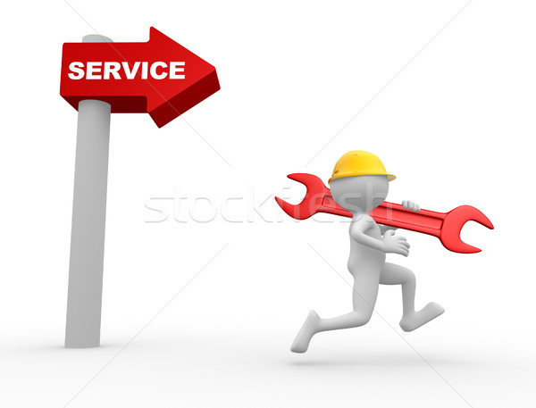 Arrow and the word service.  Stock photo © orla