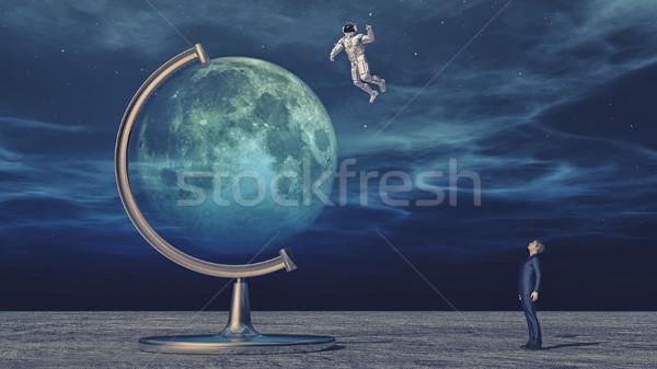 Planet explore dream Stock photo © orla