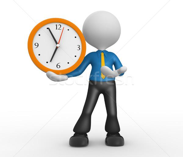 óra 3d emberek férfi személy üzletember üzlet Stock fotó © orla