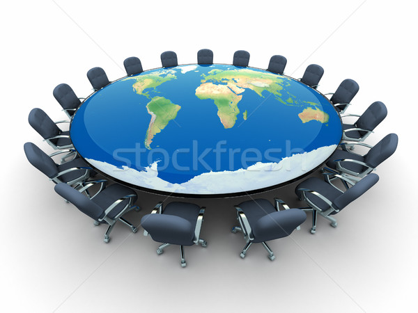 Conference table with the world map - Stock photo © orla