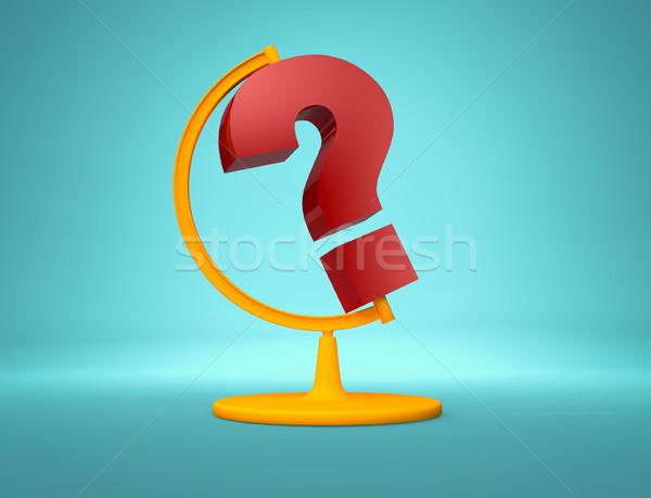 Mondial question bureau monde interrogation lieu Photo stock © orla