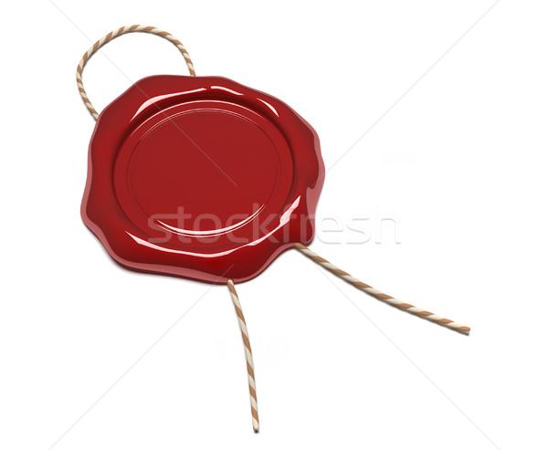 Cire sceau rendu 3d illustration rouge client Photo stock © orla