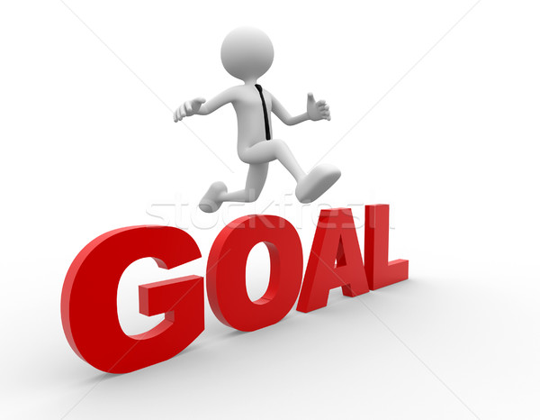 3d men fallow his goal - 3d render Stock photo © orla