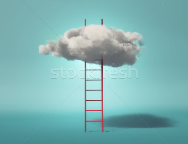 Ladder leading to a clouds Stock photo © orla