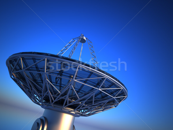 Parabolic antenna( radio telescope)  Stock photo © orla
