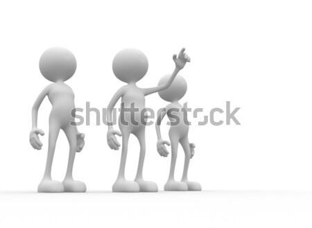 3次元の人々 男性 人 チーム 男 群衆 ストックフォト © orla
