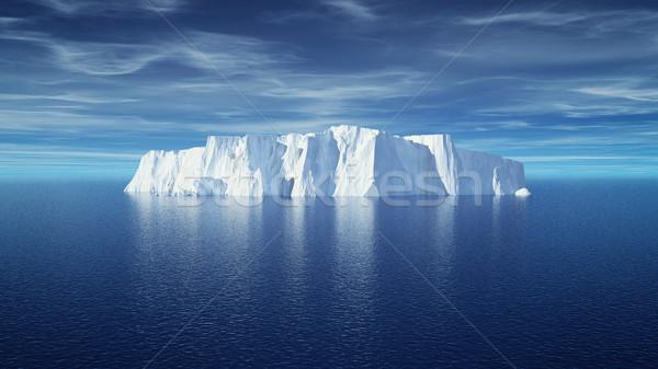 Görmek buzdağı güzel şeffaf deniz 3d render Stok fotoğraf © orla