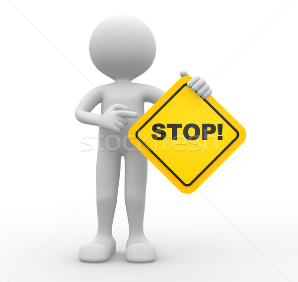 Stock photo: Stop sign