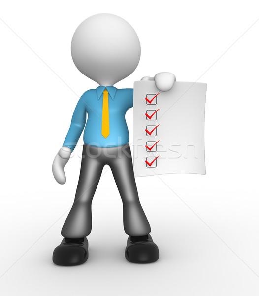 Checklist Stock photo © orla