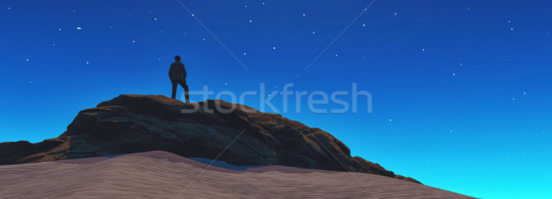 A man looks at the stars  Stock photo © orla