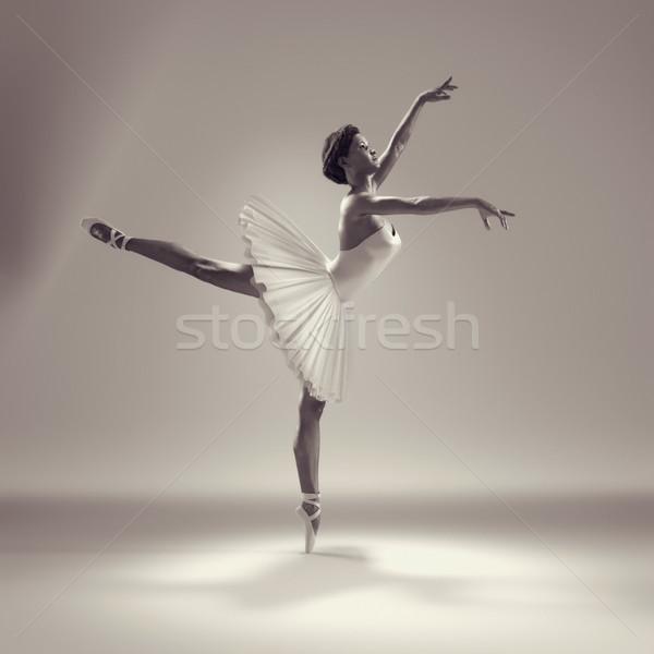 Retrato bailarina ballet plantean 3d mujer Foto stock © orla