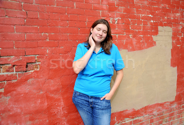 Female tomboy. Stock photo © oscarcwilliams
