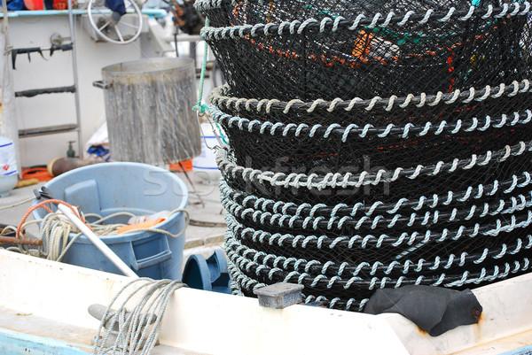 Vissersboot rivier business Stockfoto © oscarcwilliams