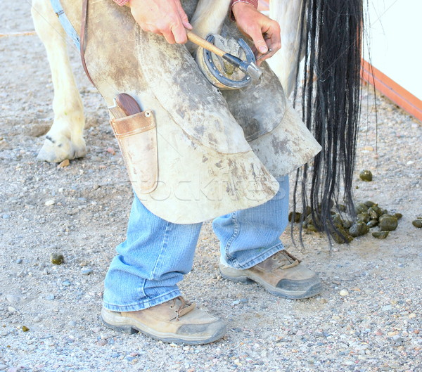 Farrier working. Stock photo © oscarcwilliams