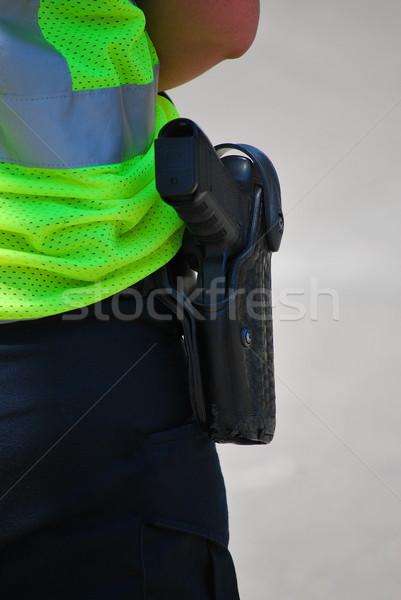 Policial em pé dever fora segurança serviço Foto stock © oscarcwilliams
