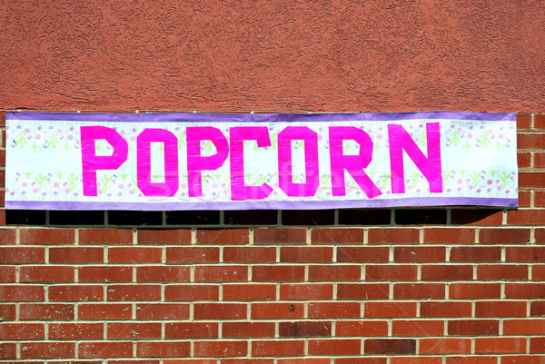 Popcorn sign. Stock photo © oscarcwilliams
