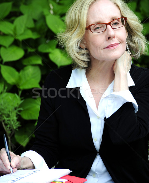 Businesswoman. Stock photo © oscarcwilliams
