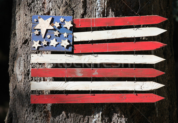 Wooden usa flag symbol. Stock photo © oscarcwilliams