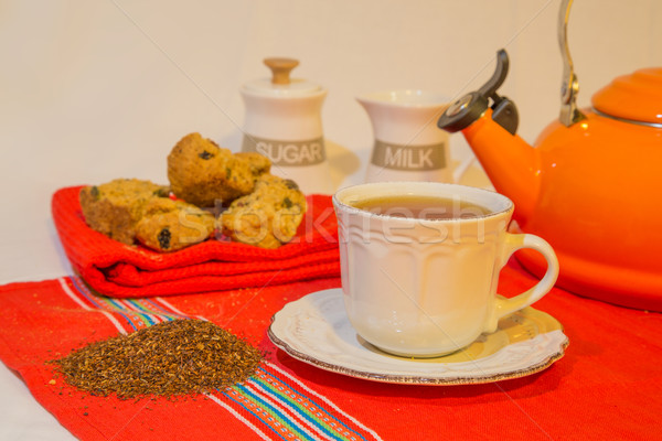 Rooibos tea and rusks Stock photo © ottoduplessis