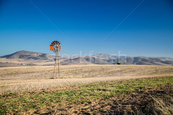 Windpump and hills Stock photo © ottoduplessis