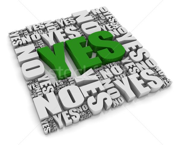 Tak grupy nie słowa biały wyboru Zdjęcia stock © OutStyle