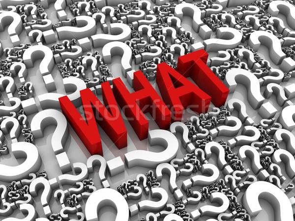 Sormak ne 3d metin soru işaretleri bilgisayar kırmızı Stok fotoğraf © OutStyle
