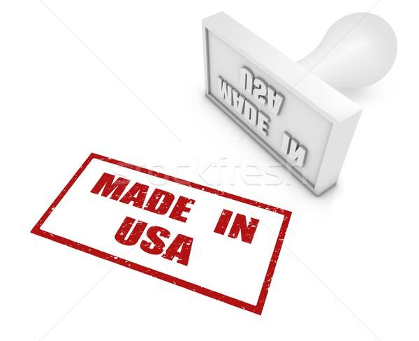 USA pecsét fehér render fogalmak export Stock fotó © OutStyle