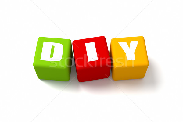 DIY Colored Cubes Stock photo © OutStyle