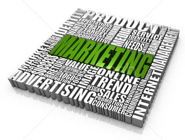 Comercialización grupo palabras negocios conceptos mercado Foto stock © OutStyle