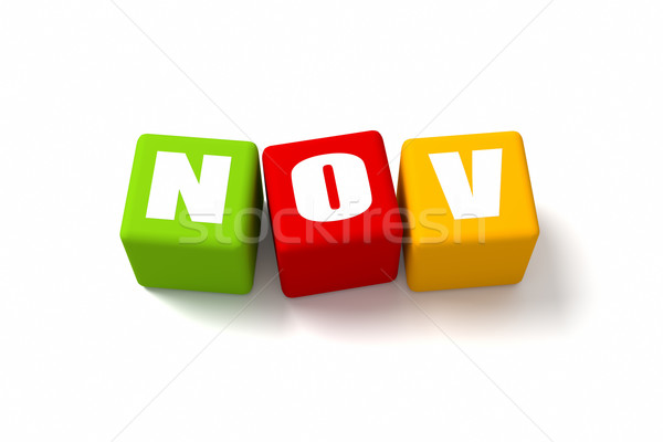 November Colored Cubes Stock photo © OutStyle