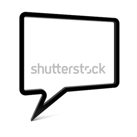 Empty Speech Bubble Stock photo © OutStyle