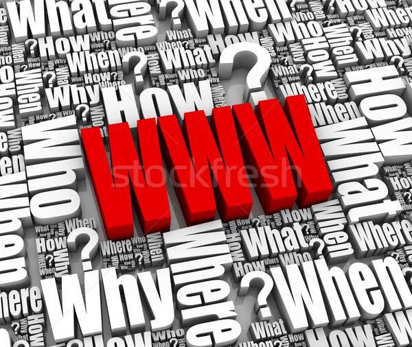 インターネット よくある質問 グループ サポート 3D 単語 ストックフォト © OutStyle