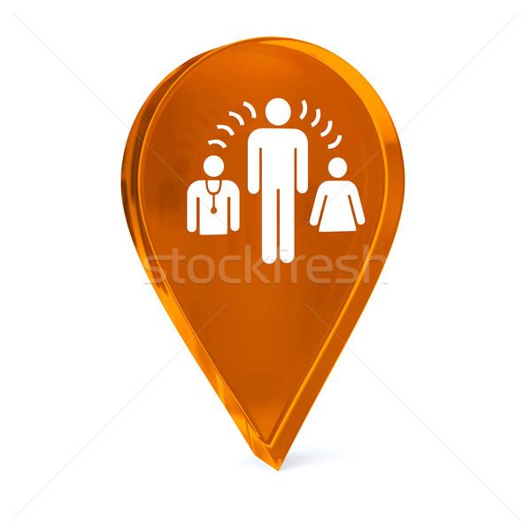 Interprete servizi vetro GPS marcatore icona Foto d'archivio © OutStyle