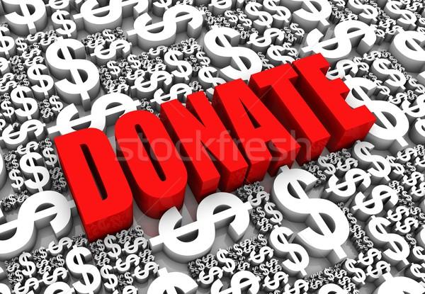 Darować 3d tekst Dolar waluta znaki działalności Zdjęcia stock © OutStyle