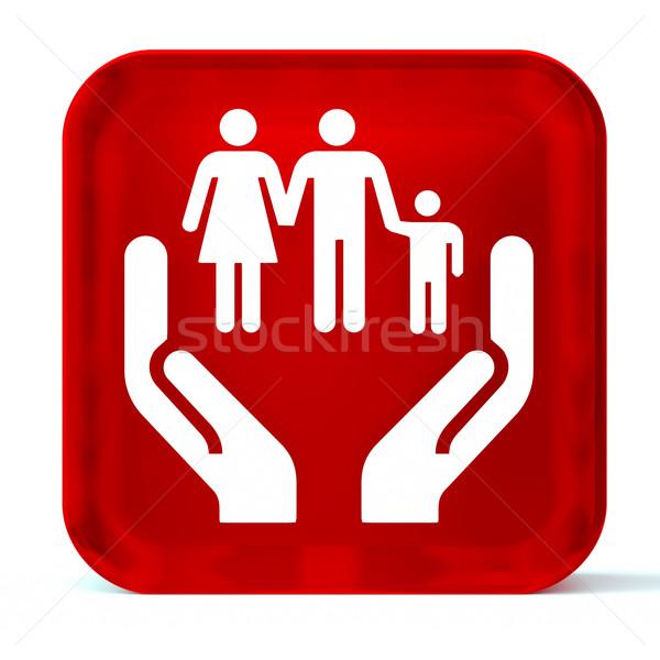 Social servicios vidrio botón icono blanco Foto stock © OutStyle