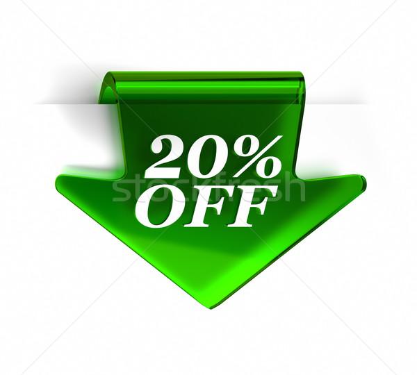 Vinte por cento verde vidro topo Foto stock © OutStyle