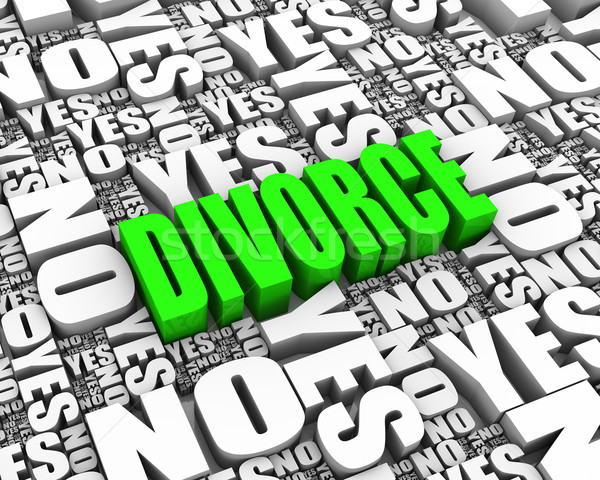 Divorce Decision Stock photo © OutStyle