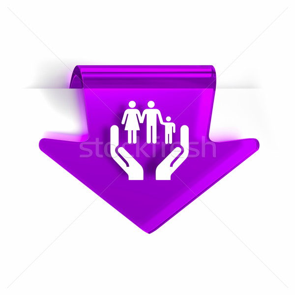 Social servicios vidrio flecha página marcador Foto stock © OutStyle