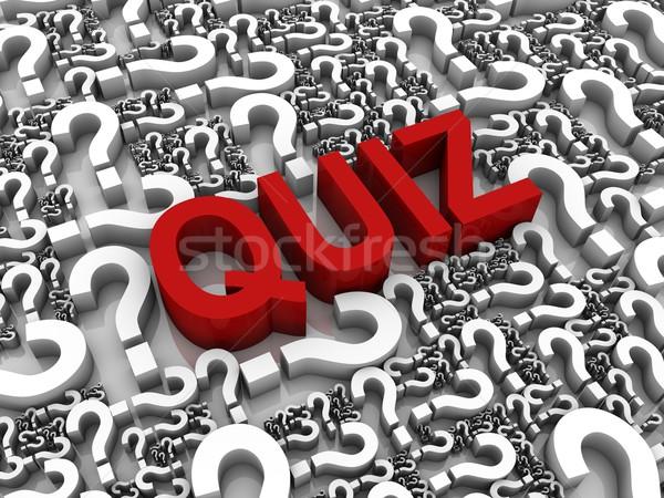 Interrogar sucesso texto 3d pontos de interrogação educação vermelho Foto stock © OutStyle