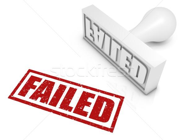 Failed Rubber Stamp Stock photo © OutStyle