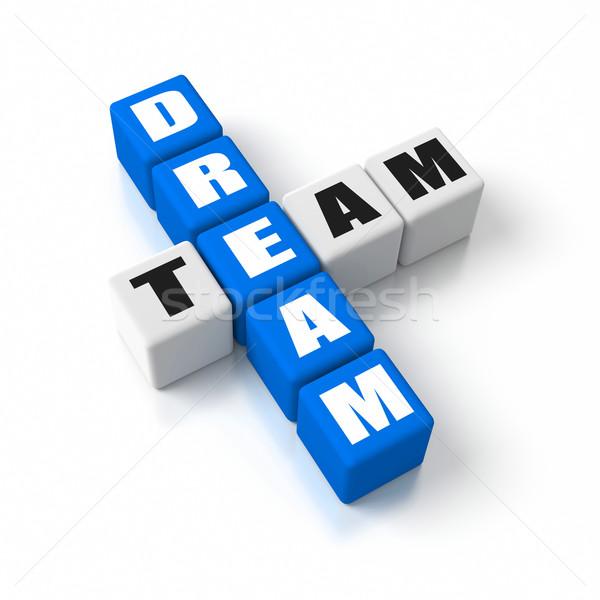 álom csapat üzlet fogalmak sportok kék Stock fotó © OutStyle