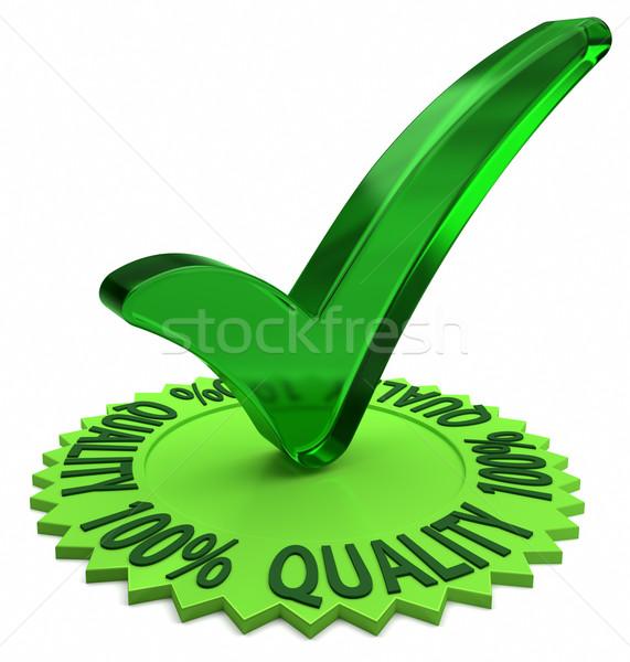 Een honderd procent kwaliteit Stockfoto © OutStyle