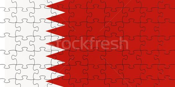 Bahréin bandera rompecabezas rompecabezas país Foto stock © OutStyle