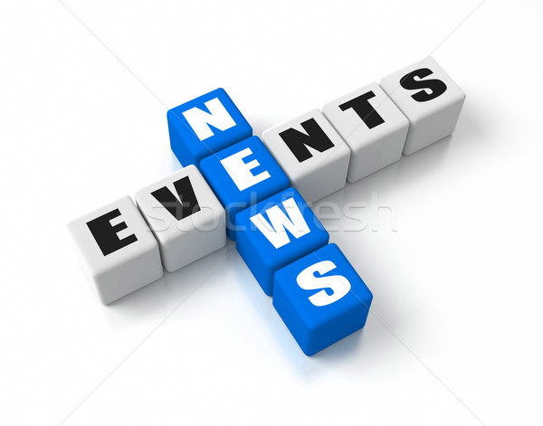 Новости событиях бизнеса синий СМИ Сток-фото © OutStyle