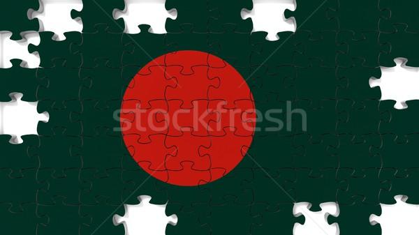 Bangladesh bandeira desaparecido peças quebra-cabeça Foto stock © OutStyle