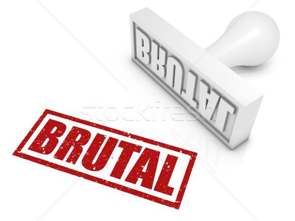 Brutális pecsét veszély render Stock fotó © OutStyle