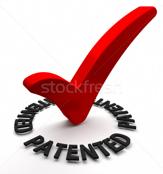 Patenteado vermelho verificar texto 3d negócio Foto stock © OutStyle